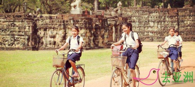 騎自行車閑逛柬埔寨景點,也是很惬意的