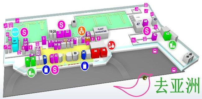 普吉國際機場航站樓示意圖