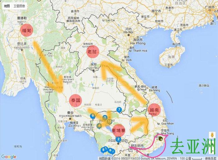 老挝陆路到柬埔寨交通攻