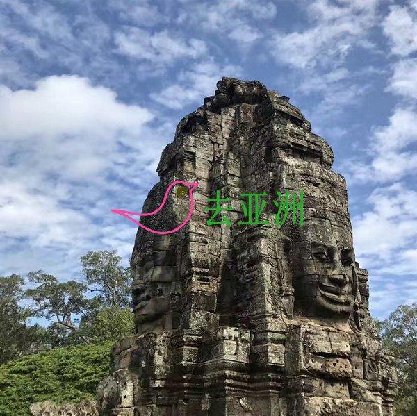 吳哥窟小圈: 巴戎寺(高棉的微笑)