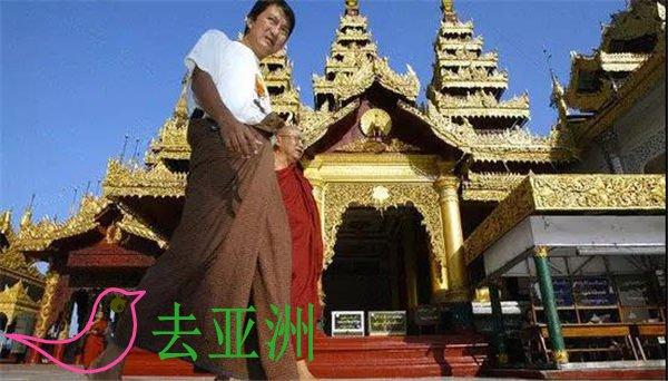 """缅甸的传统服饰与我国云南的傣族颇为相似,不论男女都下身穿筒裙,称为""""罗衣"""""""