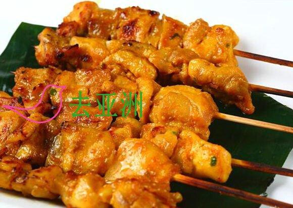 沙爹是传统的文莱食品