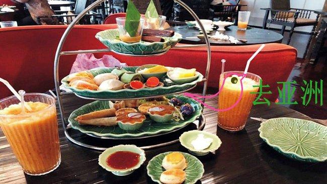 曼谷下午茶彻底颠覆英式下午茶印象,菜品和看不懂泰文怎么点