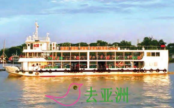 """每年6万多名外国游客乘坐仰光—达拉间的""""樱花""""渡轮前往达拉"""