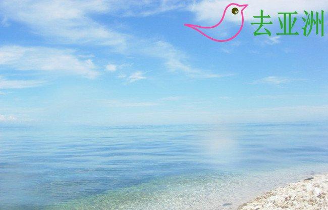 在美人鱼岛的浮潜点附近拍的图,真正的海天一色