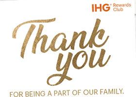 IHG洲际酒店 5000点积分免费送,输入你优悦会账户