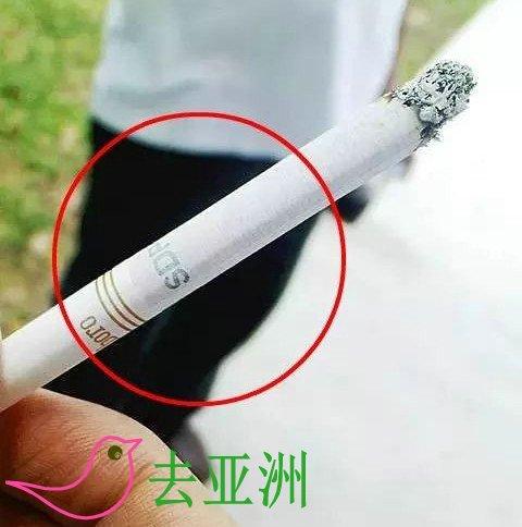 """在新加坡当地售卖的每一根香烟都必须印有""""SDPC""""标识(即新加坡关税已付)"""