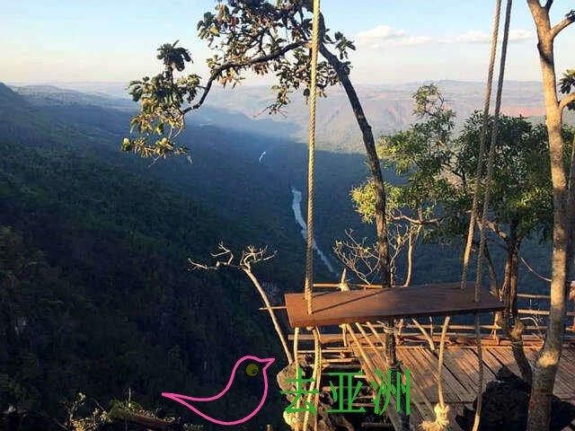 """掸邦北部瑙秋(Nawngcho)县境的""""云海""""自然景观,越来越多的游客前来观赏"""
