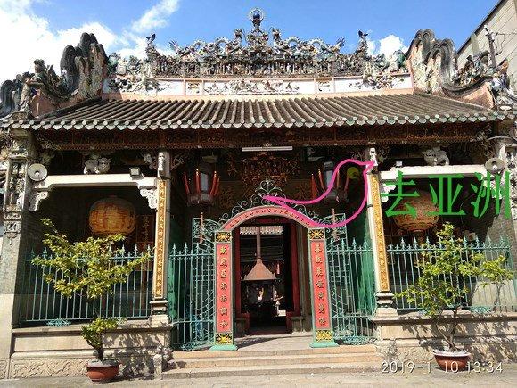 在堤岸区带有中华色彩的庙宇