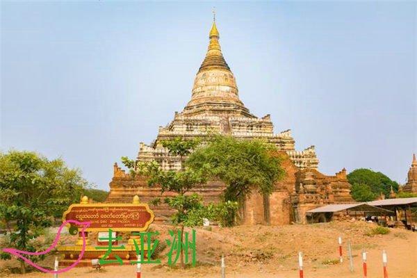 瑞山都塔是蒲甘可供豋上的最高佛塔,观赏日落万塔之城的最理想之地