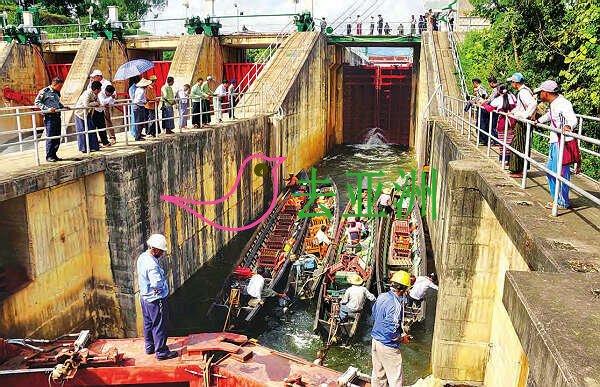 由克耶邦首府垒固市至茵莱湖的水路已通,24小时全天候可使用