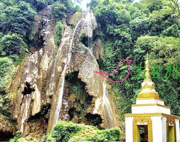缅甸突然消失的彬乌伦瀑布已恢复原貌,恢复了