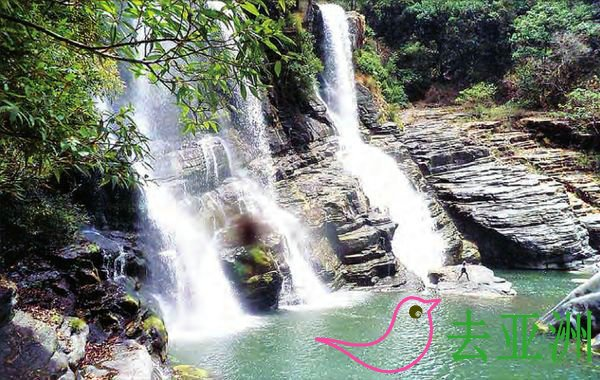 缅甸盟达拉(Bung Tla)瀑布