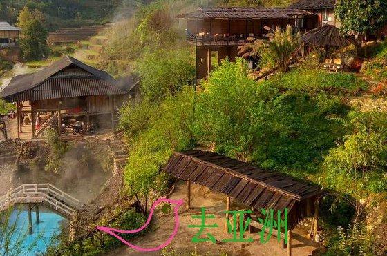 安沛站奏温泉融入西北山林美丽自然景色的理想