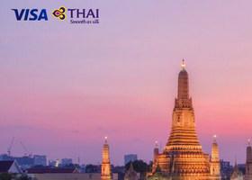 泰国航空 维萨卡持卡人专享优惠(中国大陆始发